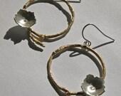 Blooming Branch Circle Drop Earrings