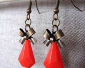 Rock and Roll Ruby- earrings