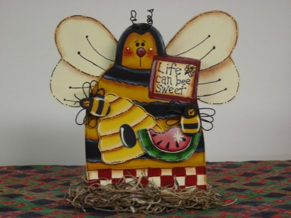 life can bee sweet honey bee home decor by mlarson on etsy