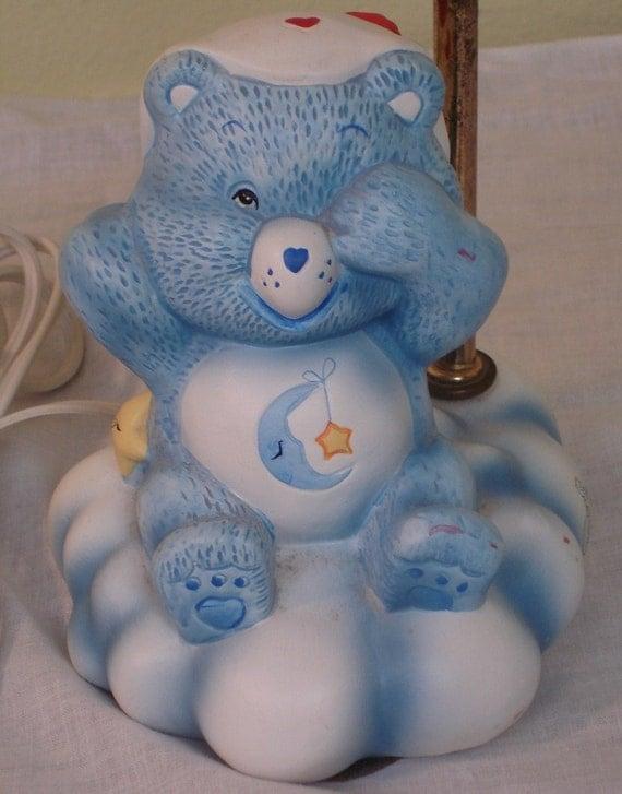Vintage Care Bear Lamp Sleepytime Bear 1983 By Irememberwhen