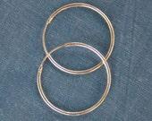 1 Pair Sterling Silver Hoops