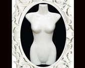 Hanging mannequin dress dummy, female torso - Fits All Sizes - white