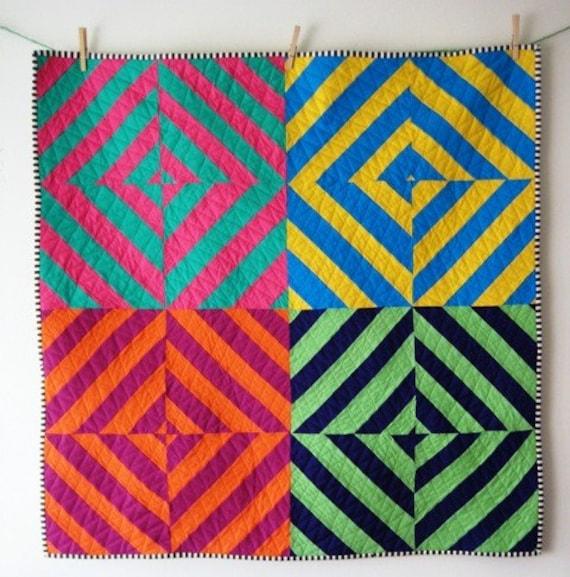Diagonal Squares Quilt