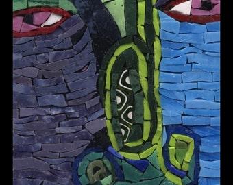 Too Many High Notes - Mosaic Fantasy Face No. 13