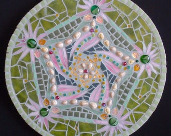 Green & Pink Mosaic Mandala