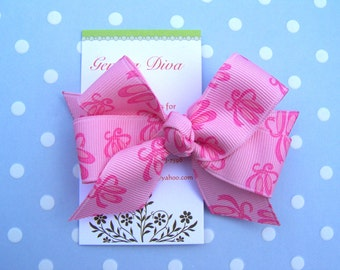 Pink on Pink Ballet Slippers Classic Diva Bow