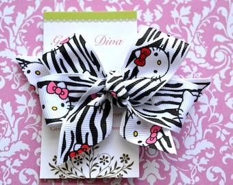 Zebra Kitty Classic Diva Bow