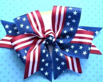 Stars and Stripes XL Diva Bow