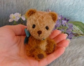 Louis a miniature artist bear by Loveable Treasures FREE SHIPPING