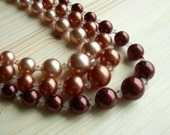 Vintage 3 Strand Bead Necklace
