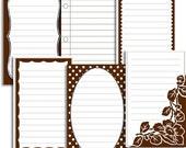 Jenni Bowlin Brown Journaling Cards - Transferware Set