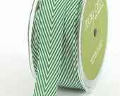 Striped Twill - Green - 3/4 Inch - 2 Yards - May Arts