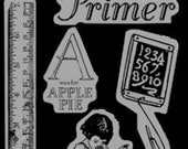 Cling Rubber Stamp Set 1 - An ABC Primer - Graphic 45