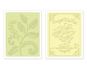 Sizzix Textured Impressions Embossing Folders - Ferns & Seed Packet