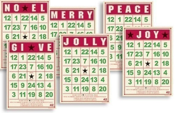 Mini Christmas Bingo Cards - Jenni Bowlin
