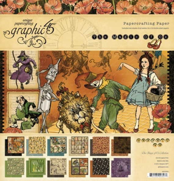 Magic of Oz - Graphic 45 - Brand New June 2011 - 8x8 Paper Pad