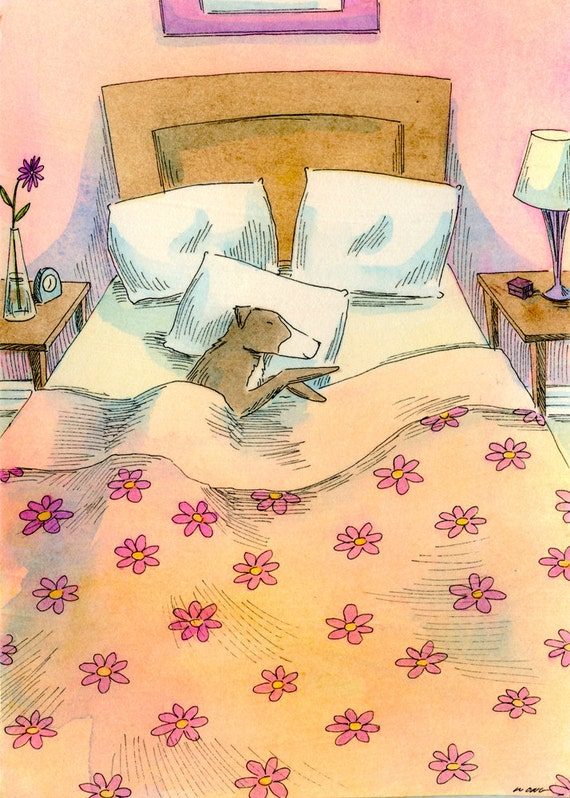 Original 5x7 Painting -- Your bed is my bed