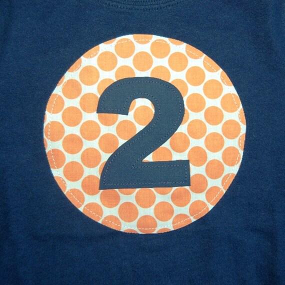 Boys 2nd Birthday Shirt ... Ready To Ship ... boys size 2T navy LONG sleeve tee ... 2 second Birthday party tee