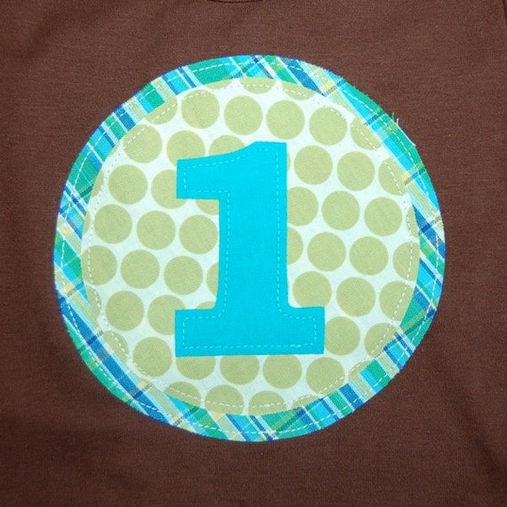 Boys 1st Birthday Shirt ... Ready To Ship ... boys size 12-18 months brown short sleeve tee ... first  Birthday party tee