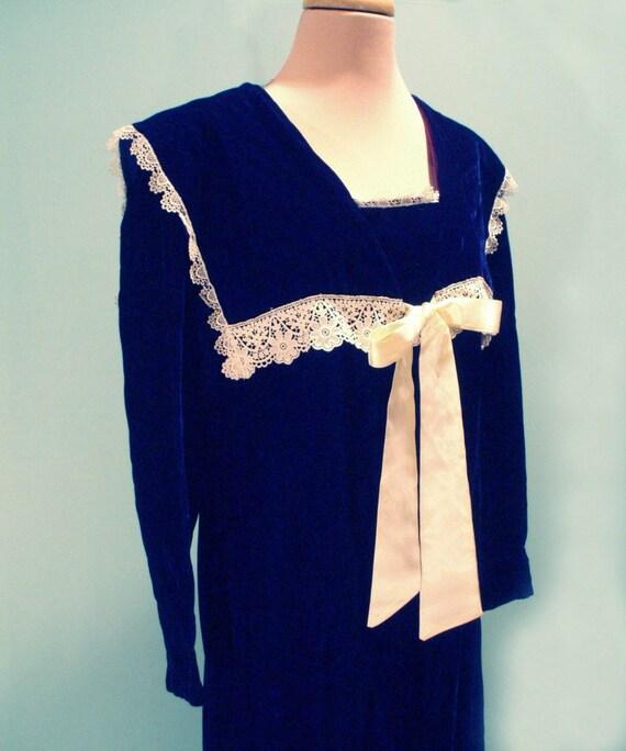 Edwardian School Girl Dress From Gunne Sax Size Medium-7924
