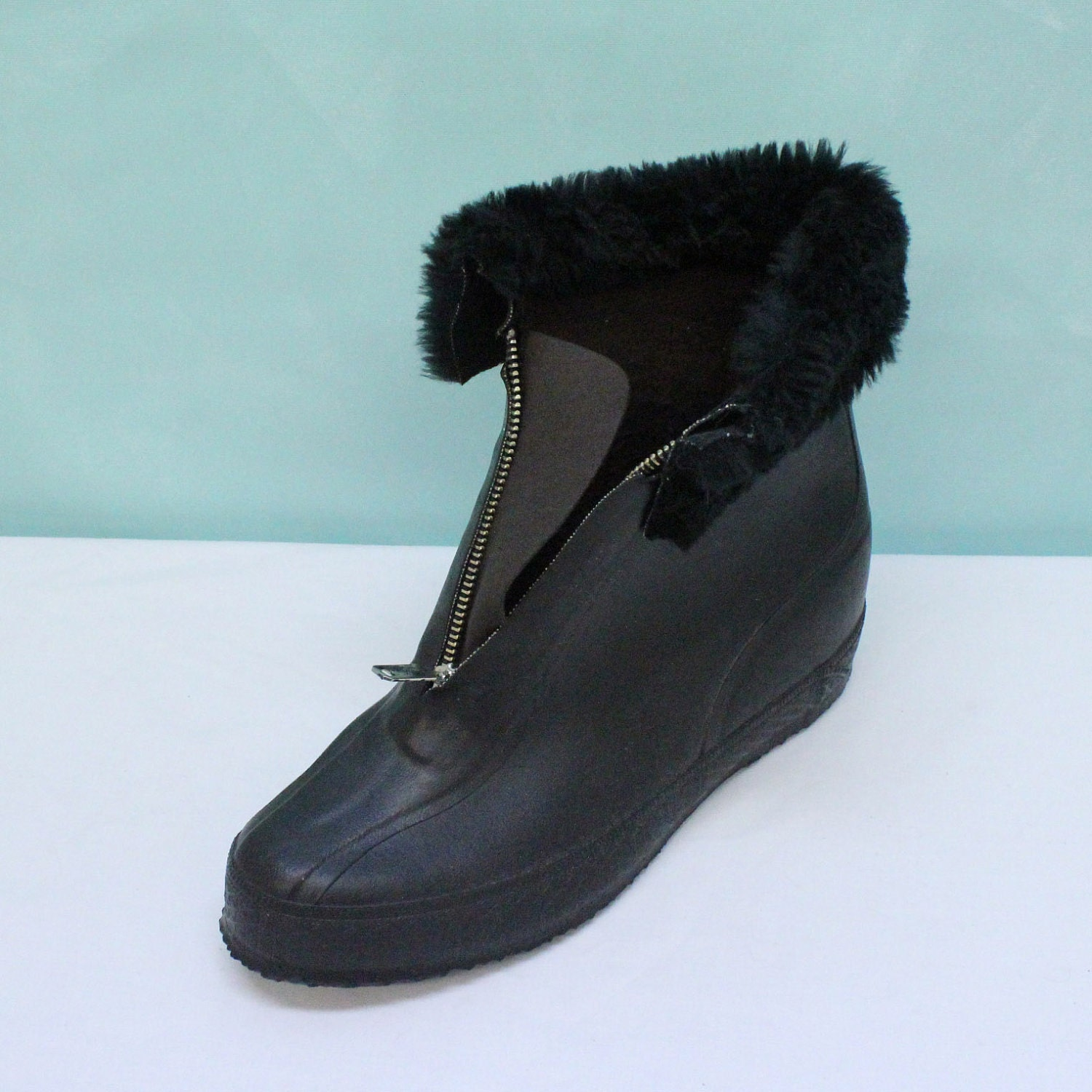 60's Womens Rubber Snow Boots / Galoshes Size 9 New