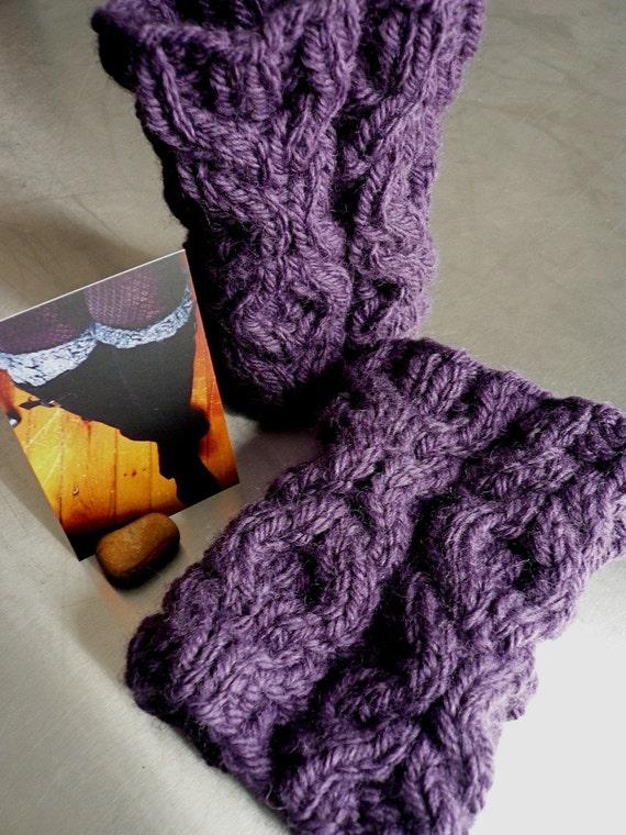 adorable aubergine cozy cuffs