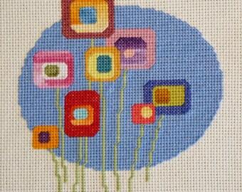 Lollipop Flowers 2   Cross Stitch Pattern