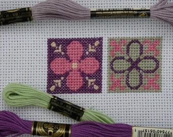 Modular Pattern 2 -  Four Petal Flower  /  Cross Stitch Pattern