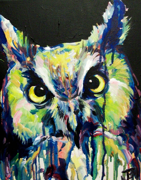 Archimedes The Owl Painting