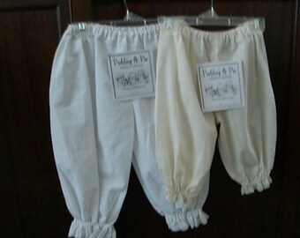 Tea-dyed Pantaloons with eyelet for baby 12months