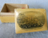 19thC Mauchline Jewelry Box The Belvedere Victoria Terrace Weymouth