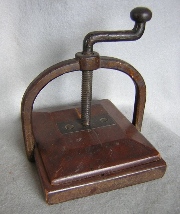 Antique Victorian Flower Press