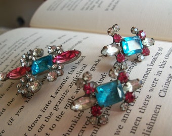 Antique Brooch and Earring Set