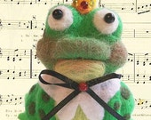Phineas Frog Prince Needle Felted Frog