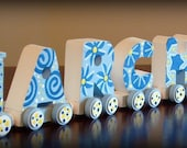 Personalized Six Letter Name Train