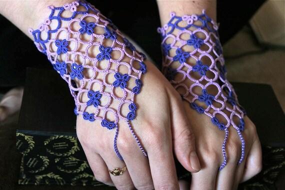 Half-size Cuffs in purples (pair)