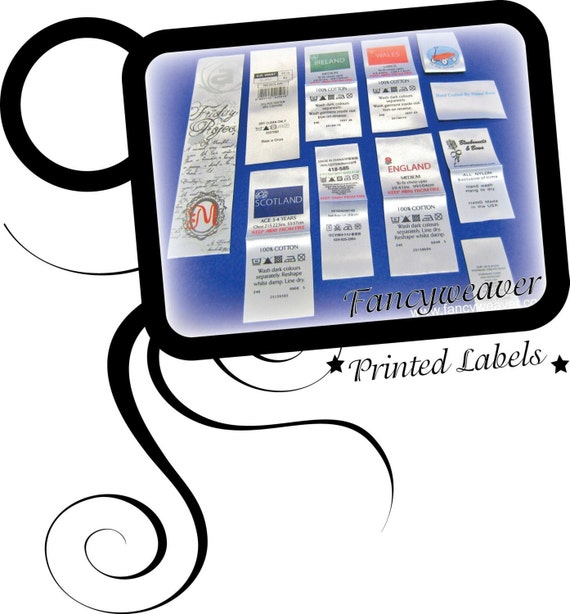 1200pcs Custom Satin Printed Labels ( White Background ) the Price Including Shipping