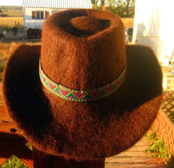 Handsome fedora felt alpaca hat