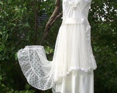 Slip dress..ladies..cream..bridal..slip makeover