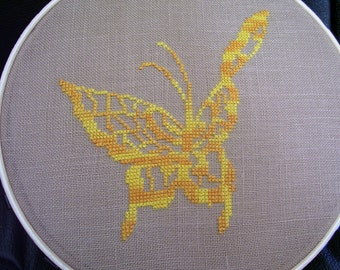 11001 Butterfly Silhouette Original Design Cross Stitch PDF Pattern - DIGITAL DOWNLOAD