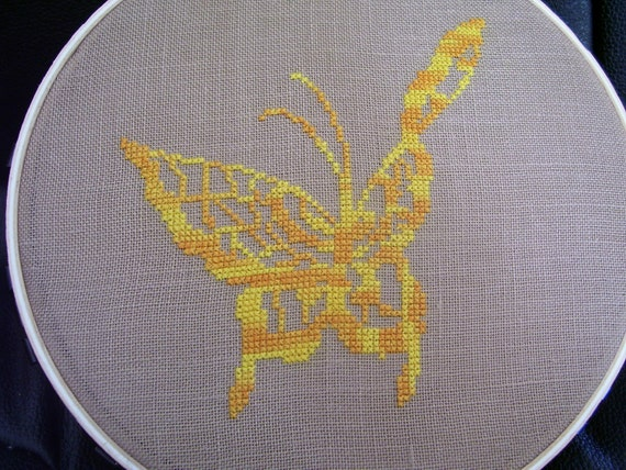 11001 Butterfly Silhouette Original Design Cross Stitch PDF Pattern - DIGITAL DOWNLOAD