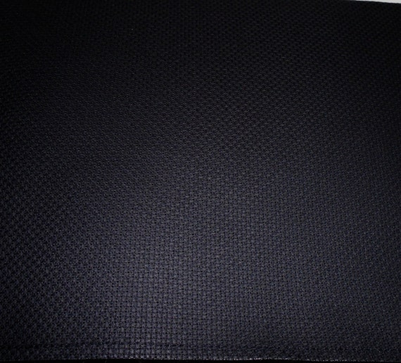 50% OFF FABRIC SALE - Black 14-count Aida Cross Stitch Fabric