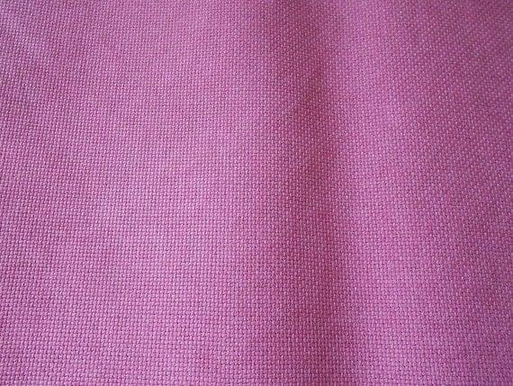 50% OFF FABRIC SALE - Mauve Hand Dyed 14-count Aida Cross Stitch Fabric