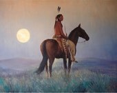 "RICHARD ONLY SPECIAL LISTINGMoon when Chokeberries RipenORIGINAL28x22"" Oil on Canvas"