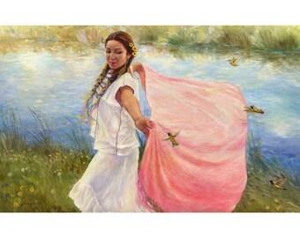 Arianna , print, hummingbird dance,