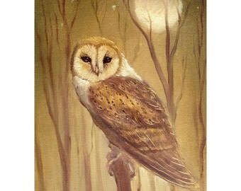 giclee THE OWL limited edition print  form oil painting by david Joaquin
