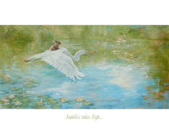 ISABELLA  takes flight Print , digital print, finest achchival quality