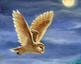 ISABELLA TAKES A CHANCE Giclee Print Folk Art Illustration by David Joaquin