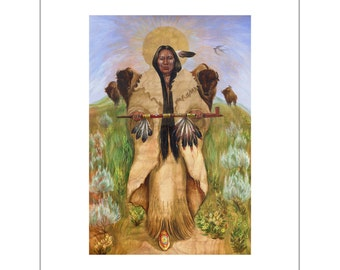 Ann SPECIAL White Buffalo Woman and Shaman Print