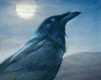 Night Raven- Art Print